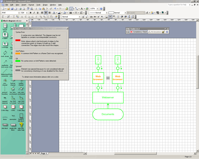 stencils example consistency checker example - Download Visio Templates