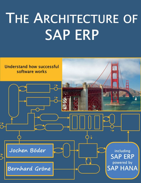 Book cover of The Architecture of SAP ERP: Understand how successful software works